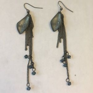 Alexis Bittar style lucite dangle earrings